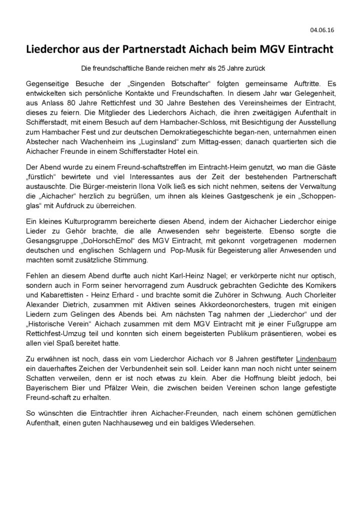 Aichach Besuch 2016 - Pressebericht-001